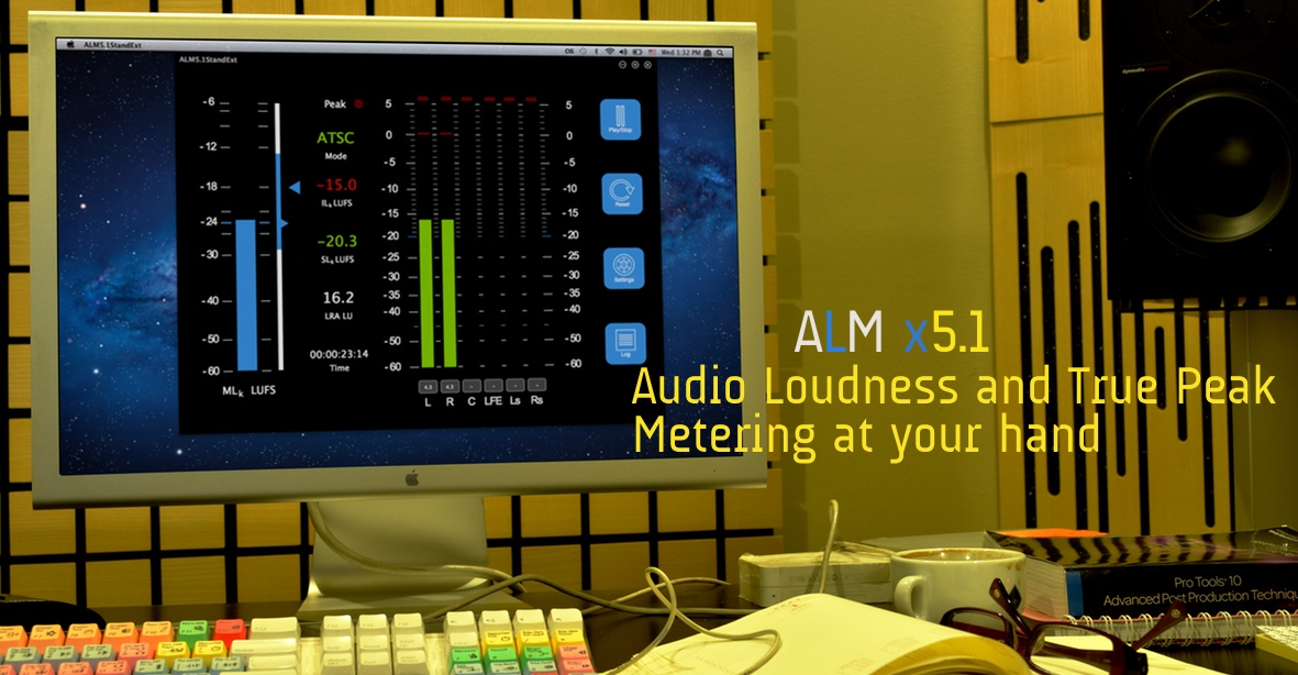 ALMx 5.1 Audio Loudness Meter Extended Standalone Application EBU ATSC ITU
